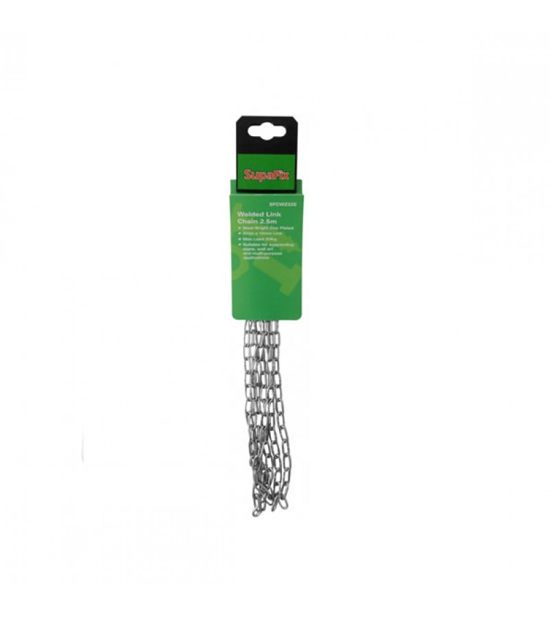 Supafix Welded Small Link Chain Zinc Plated 2.5m