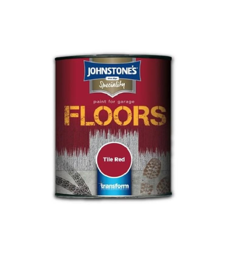 Johnstone's Garage Floor Paint 250ml Tile Red