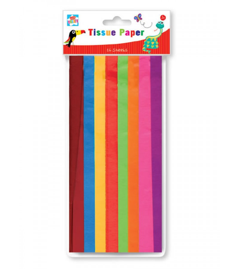 Kids Create Tissue Paper (16 Sheets) Multi Colour