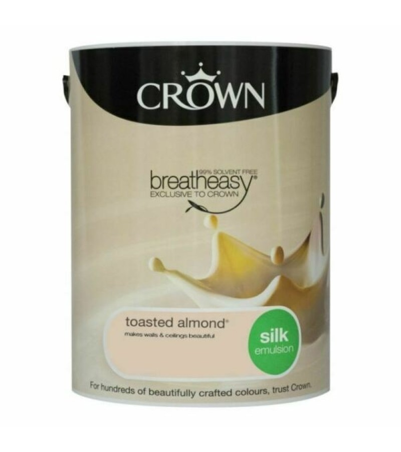 Crown Emulsion Paint 5L Toasted Almond Silk