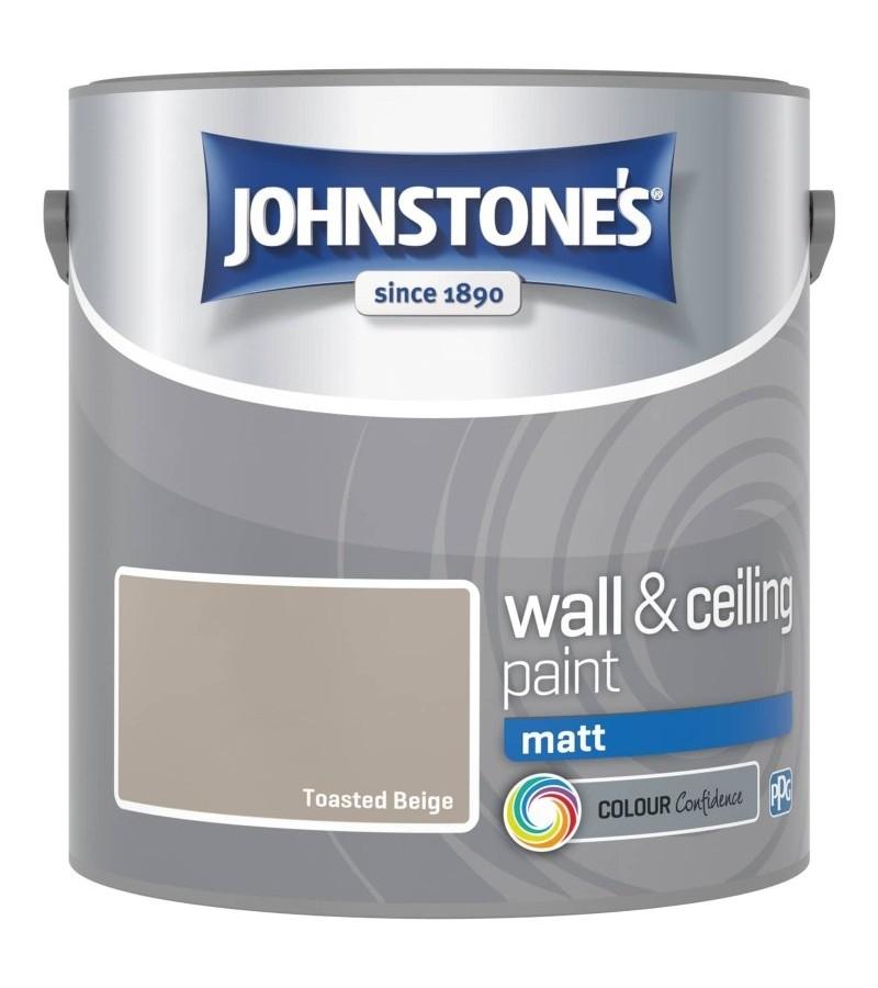Johnstones Vinyl Emulsion Paint 2.5L Toasted Beige Matt