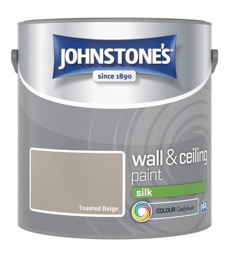 Johnstones Vinyl Emulsion Paint 2.5L Toasted Beige Silk