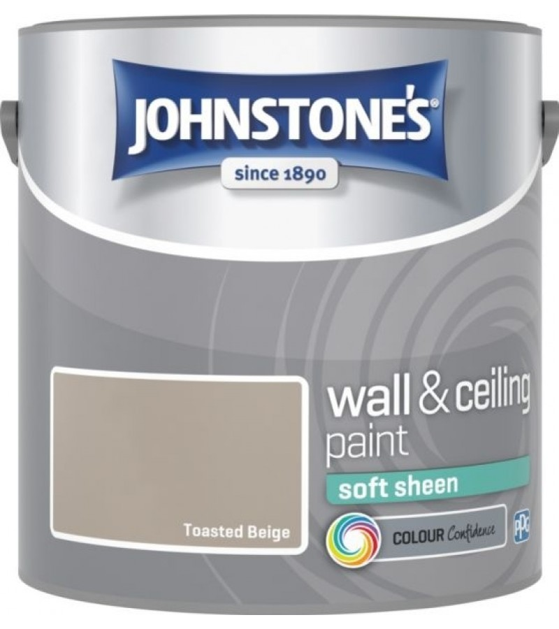 Johnstones Vinyl Emulsion Paint 2.5L Toasted Beige Soft Sheen