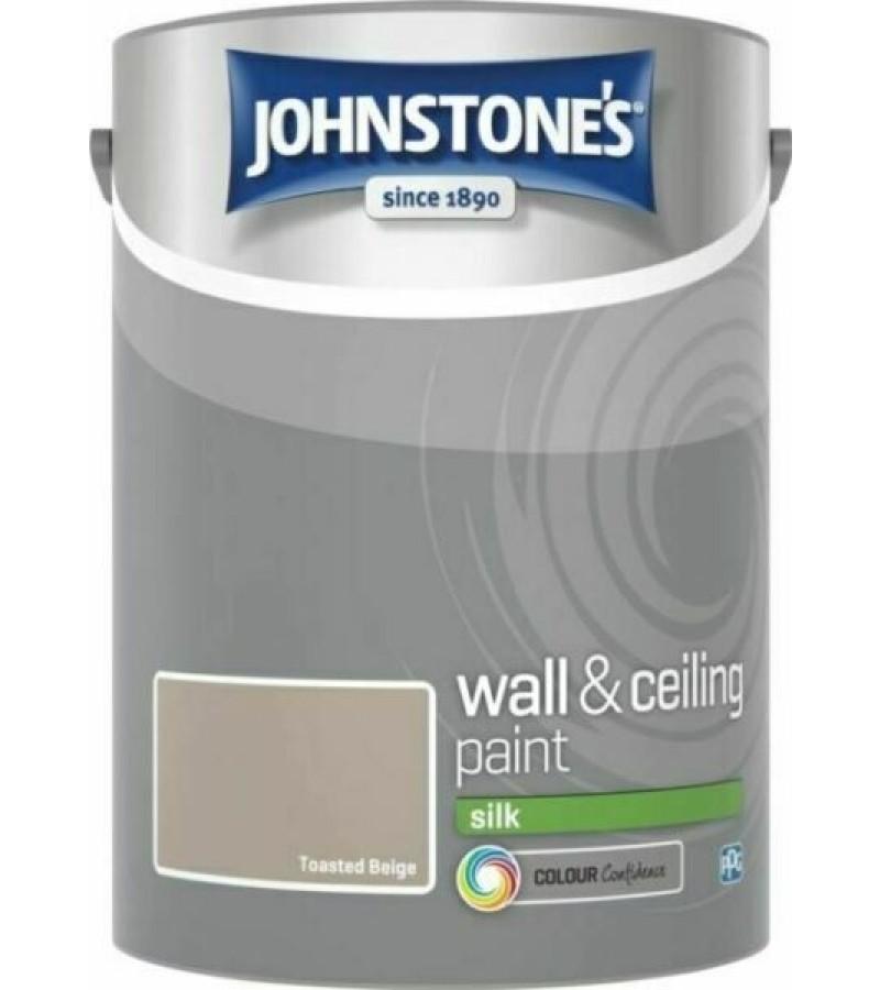 Johnstones Vinyl Emulsion Paint 5L Toasted Beige (Silk)