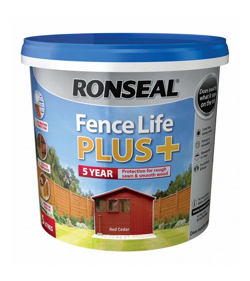 Ronseal Fence Life Plus + 5L Red Cedar