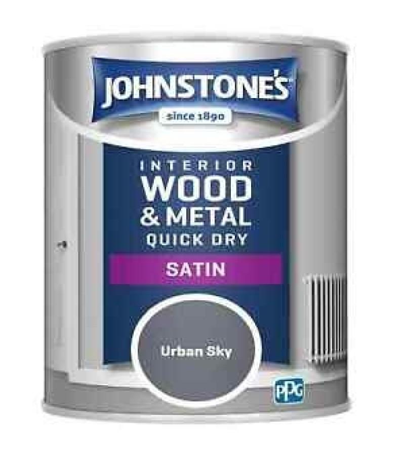 Johnstones Quick Drying Satin Paint 750ml Urban Sky