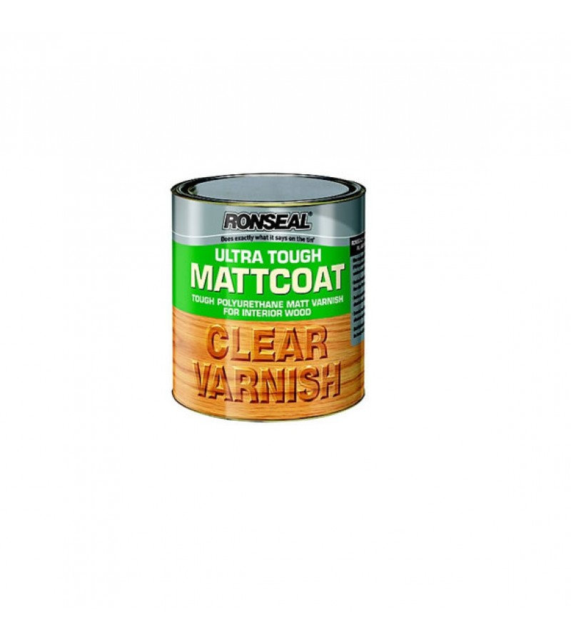 Ronseal Ultra Tough Matt Coat Varnish 750ml Clear