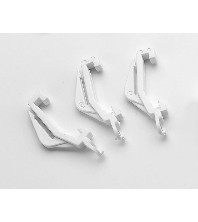 Universal Curtain Track Gliders (10 Pack) White
