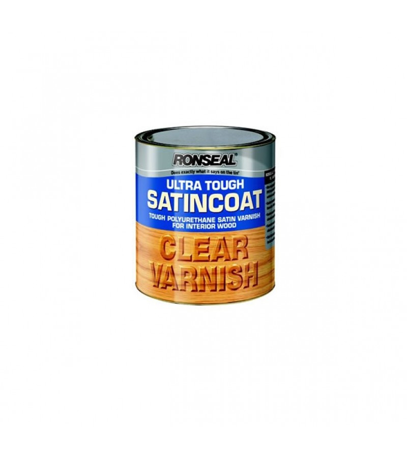 Ronseal Ultra Tough Satin Coat Varnish 750ml Clear