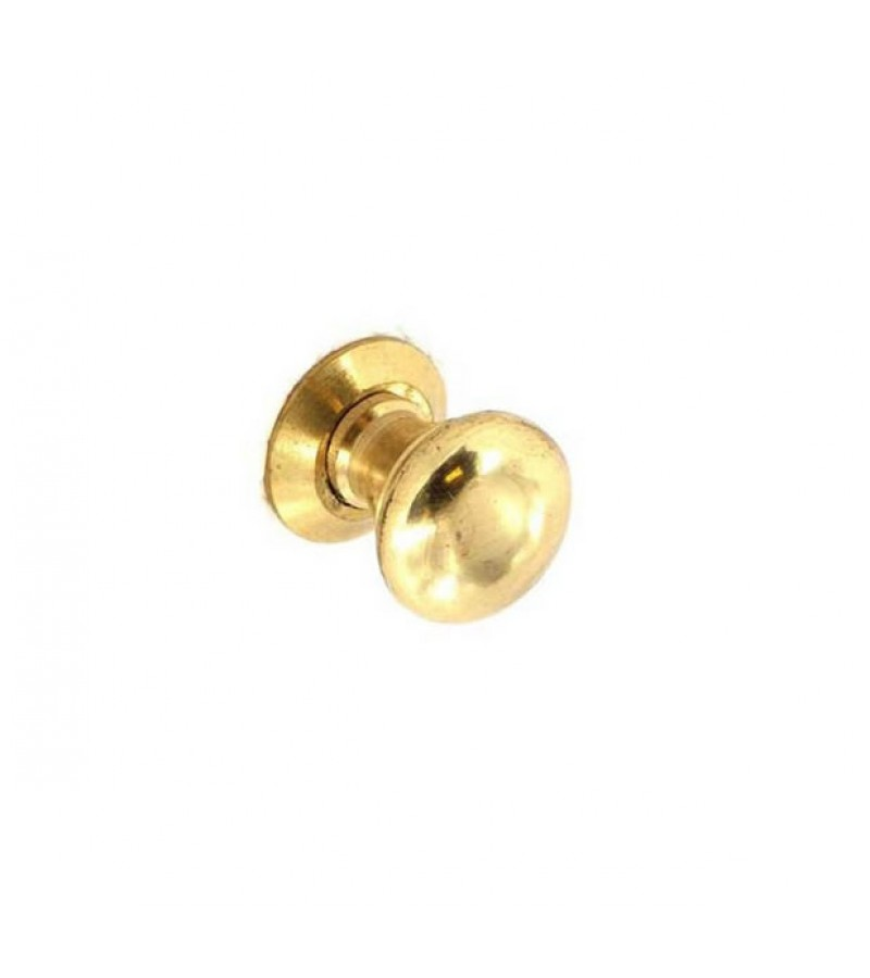 Securit S2614 35mm Victorian Cupboard Knobs Brass (2 Pack)