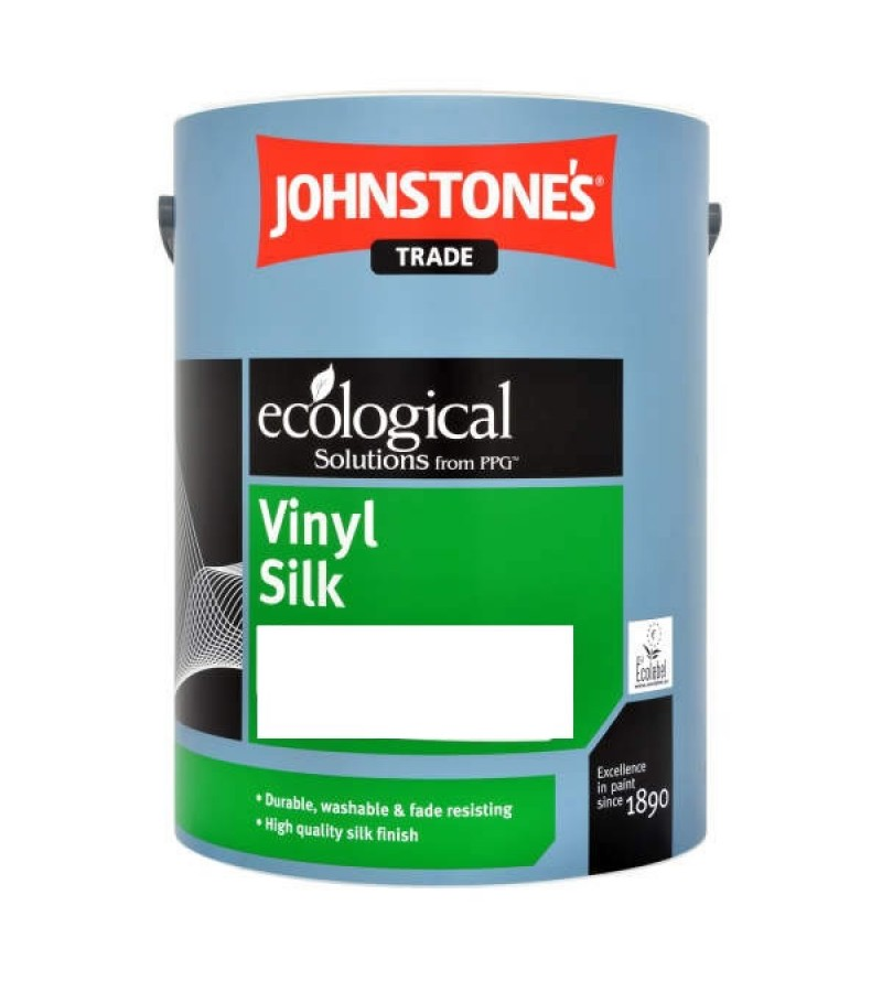 Johnstones Trade Vinyl Emulsion Paint 5L Brilliant White (Silk)