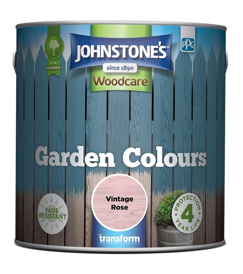 Johnstones Garden Colours Paint 2.5L Vintage Rose