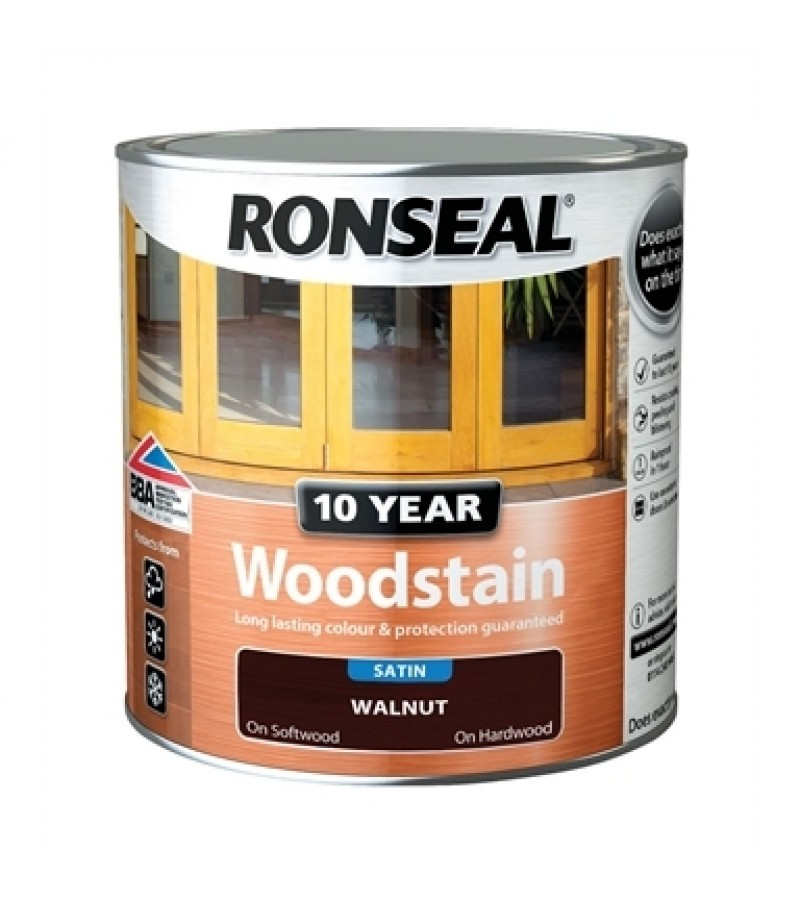 Ronseal 10 Year Woodstain Walnut Satin 750ml