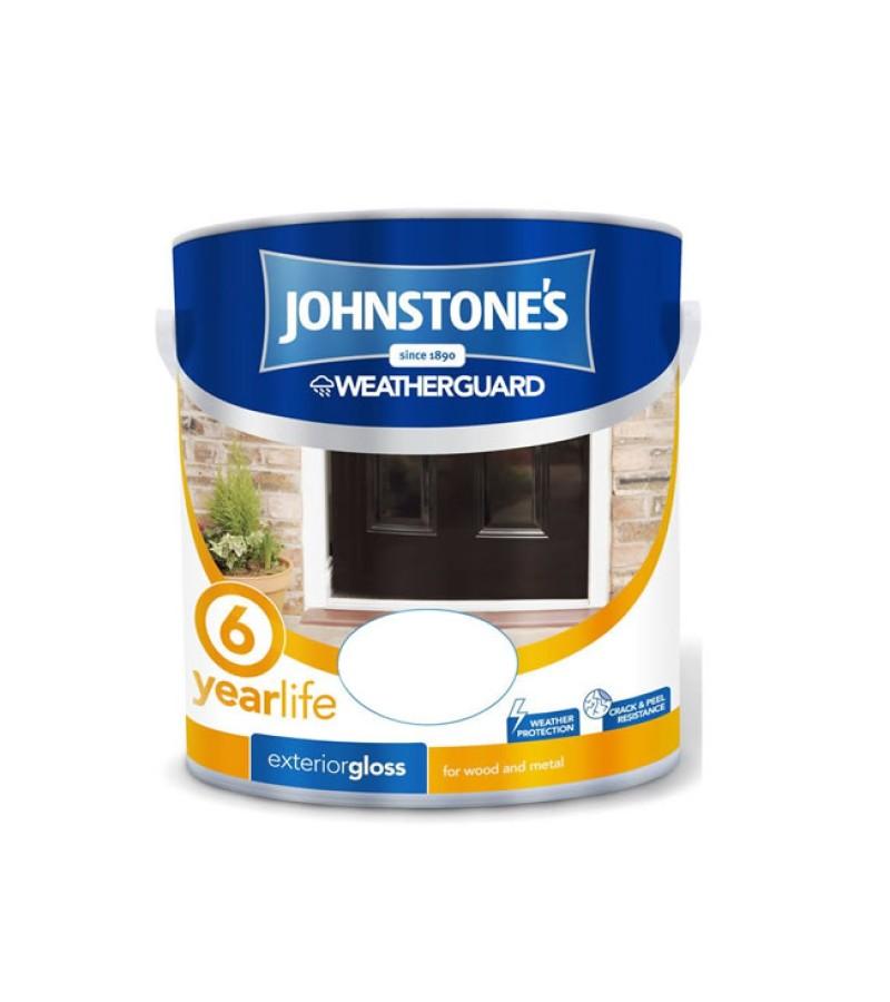 Johnstones Weatherguard Exterior Gloss Paint 750ml White