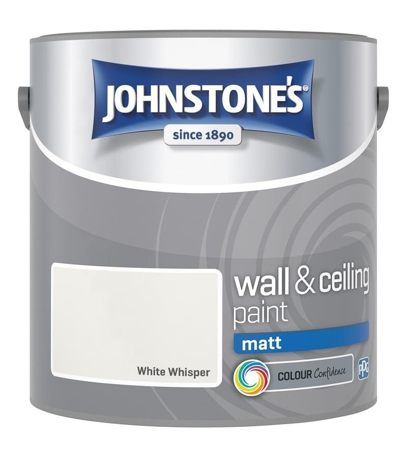 Johnstones Vinyl Emulsion Paint 2.5L White Whisper (Matt)