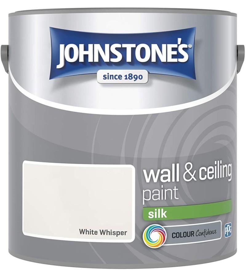 Johnstones Vinyl Emulsion Paint 2.5L White Whisper (Silk)
