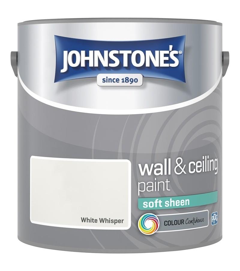 Johnstones Vinyl Emulsion Paint 2.5L White Whisper (Soft Sheen)