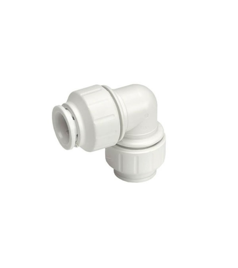 JG Speedfit Equal Elbow Connector White 15mm
