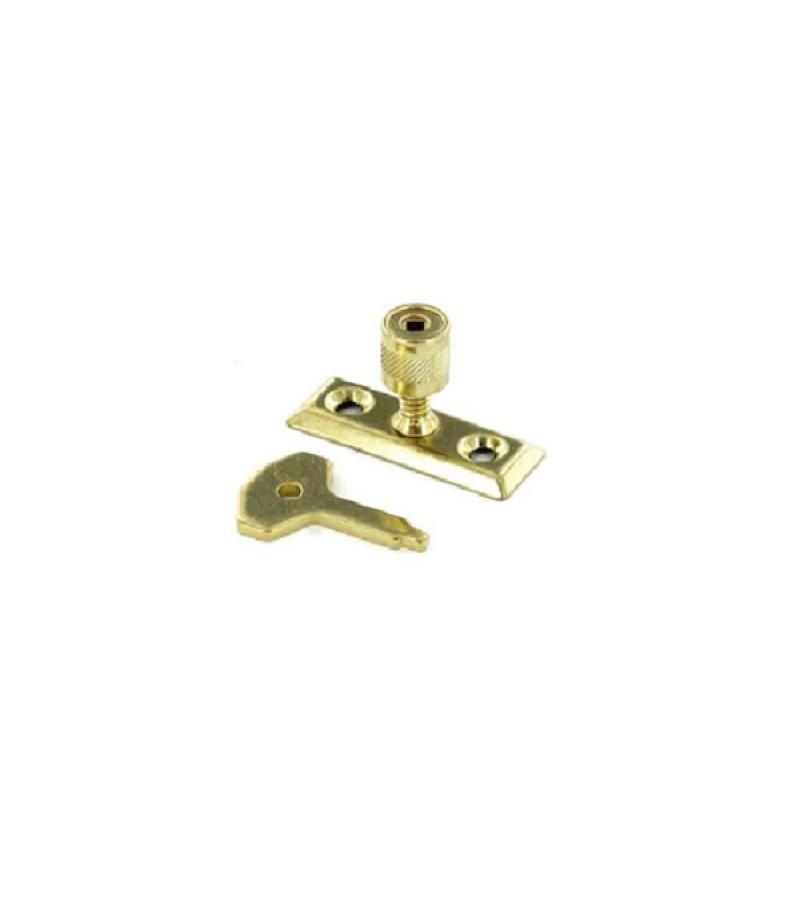 Securit S1040 Brass Window Stay Lock (2 Pack)