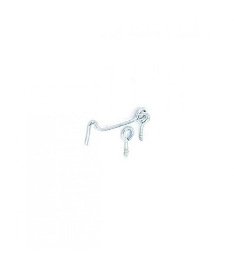 Securit S6342 Gate Hooks & Eyes Zinc Plated 100mm (2 Pack)
