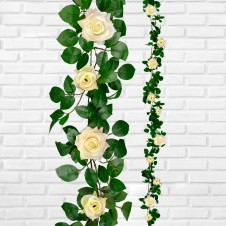 Rose Garland Cream 1.9m