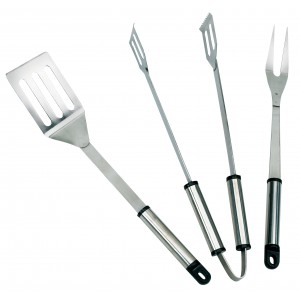 Landmann 3 Piece Stainless Steel BBQ Tool Set