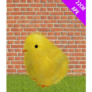 Easter Yellow Fluffy Chick 22cm