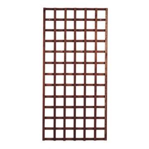 Heavy Duty Framed Trellis Panel (6 x 3) Tan