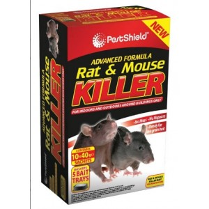 Pest Shield Rat & Mouse Killer (10 x 40g sachets)