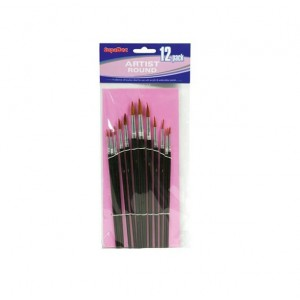 Supadec 12 Piece Round Artist Brush Set