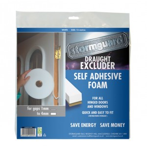 Stormguard Seal N Save Self Adhesive Foam Draught Excluder 15m White