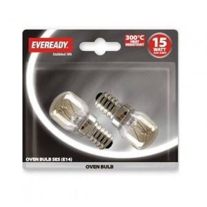 Eveready 15W SES Oven Bulbs (2 Pack)