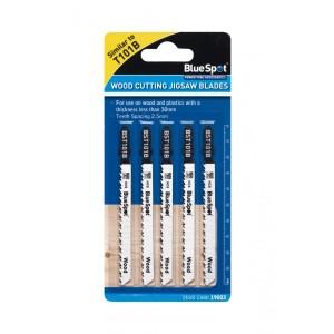 Blue Spot Clean Cut Wood Cutting Jigsaw Blades 5 Pack