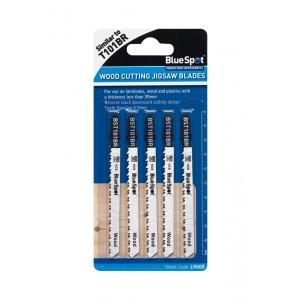 Blue Spot Reverse Pitch Wood Cutting Jigsaw Blades 5 Pack
