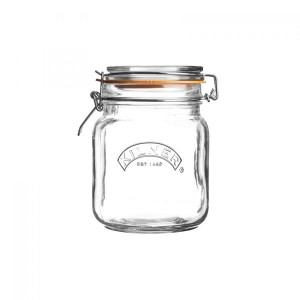 Kilner Square Clip Storage Jar 1L