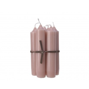 Christmas Leather Cord Candles 11cm  (7 Pack) Blush Pink