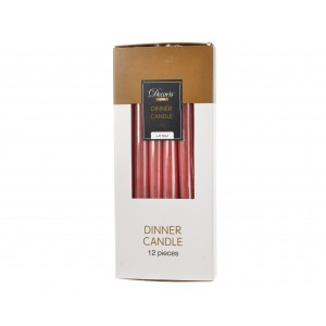 Christmas Dinner Candles (12 Piece) Red
