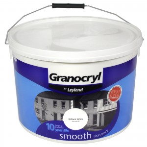 Leyland Granocryl Smooth Masonry Paint 10L Brilliant White