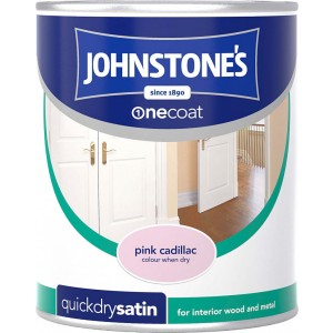 Johnstones One Coat Satin Paint 750ml Pink Cadillac