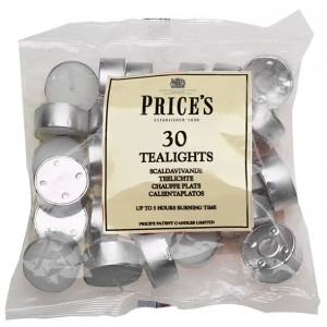 Prices White Tealights (30 Bag)