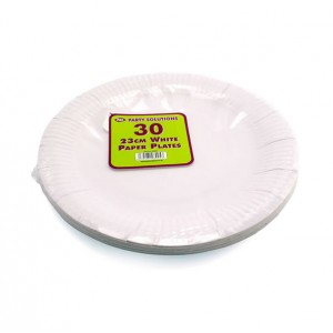 PPS 23cm Paper Plates (30 Pack) White