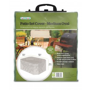Gardman Patio Set Cover - Medium Oval
