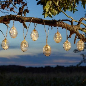 SpiraLight 10 Silver Solar String Lights