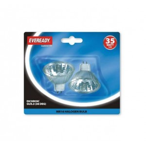 Eveready 35W MR16 Bulbs (2 Pack)