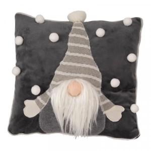 Christmas Gonkert Cushion 33cm Grey