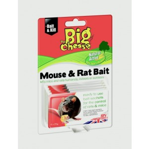 The Big Cheese Natural Mouse & Rat Bait 25g (4 Pack)