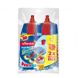Vileda Supermocio Refill Twin Pack