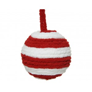 Christmas Soft Candy Cane Bauble 8cm