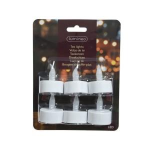 Christmas Lumineo Indoor LED Tealights (6 Pack)