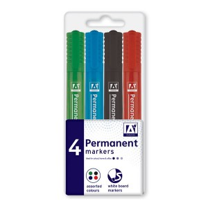 Anker Permanent Markers (4 Pack) Assorted